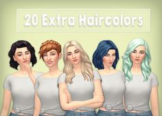 Phew! This took a lot longer than I thought it would, I said a couple days, turns out, it was more like a month… This is 20 extra haircolors for almost all adult EA hairs, eyebrows and beards! I...