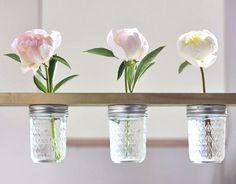 Détournement de bocaux en verre en décoration