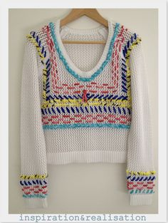 inspiration and realisation: DIY Fashion - DIY open knit stitched sweater inspired by Rebecca Minkoff Resort 2013