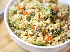 Cauliflower Fried Rice. So easy and delicious!