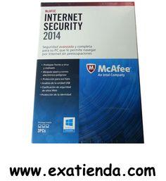 Ya disponible Antiv. Mcafee is 2014 3lc   (por sólo 43.89 € IVA incluído):   - McaFee Internet Security 2014 3LC - Motor de análisis de nueva generacion y alto rendimiento que ofrece maxima velocidad de analisis y uso optimizado de la bateria, y proporciona proteccion proativa frente a los ultimos virus, troyanos, spyware, rootkits y otras amenazas (MEJORADO)  - Optimizar el PC para mejorar el rendimiento - El analizador de vulnerabilidades de McAffe (NUEVO) - McAffe Qui