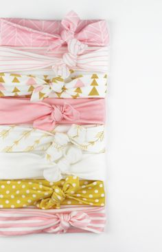 Amazingly soft knotted baby headbands are my go-to gift for baby showers! Each…