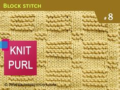 Knit Purl Stitches #8: Blocks | Skill level: Easy - YouTube