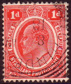 Nyasaland British Central Africa 1908 King Edward VII Fine Used SG 74 Scott 3 Other Nyasaland Stamps HERE