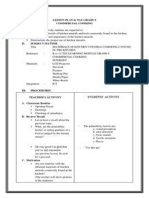 detailed-lesson-plan-in-tle-kitchen-utensils-and-equipment-1.pdf Grade 1 Lesson Plan, Grammar Lesson Plans, Lesson Plan Pdf, Lesson Plan Format, Lesson Plan Examples, English Lesson Plans, Daily Lesson Plan, Teacher Lesson Plans, Lesson Plan Templates