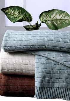 Homescapes presents Cable Knit Throws which are made of 100% Natural Cotton!