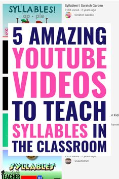 5 Fun AND Instructional Videos to Teach Syllables to New Readers Teaching Phonics, Phonics Activities, Teaching Strategies, Teaching Tips, Therapy Activities, Teaching Art, Syllables Kindergarten, Teaching Kindergarten, Teaching Reading