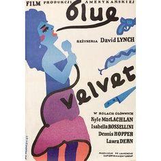 """""""Blue Velvet"""" 1986 Polish Movie Poster"""