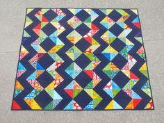 Chevrons and Diamonds Batik Lap Quilt