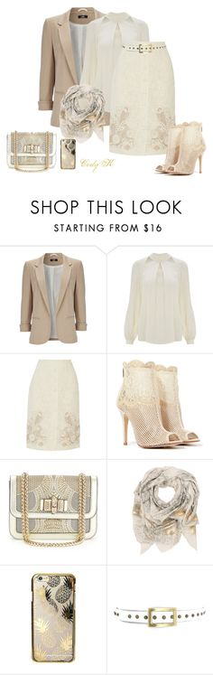Beige & Cream by cody-k on Polyvore featuring Temperley London, Wallis, Dolce&Gabbana, Chinese Laundry, Christian Louboutin, Sophie Darling and Skinnydip