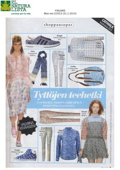 El Naturalista featured in the Finnish magazine Miss mix. Thank you!!! We are happy! :-)