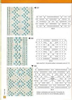 filet crochet View album on Motif Bikini Crochet, Crochet Lace Edging, Crochet Borders, Crochet Diagram, Crochet Stitches Patterns, Crochet Squares, Crochet Doilies, Stitch Patterns, Knitting Patterns