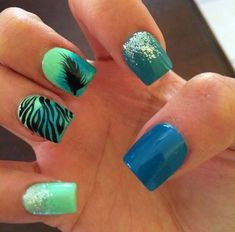 Love this Nail Art Design & colors!