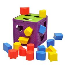 YIXIN Plastic Geometric Square Shape Sorter Cube Baby First Blocks Shape-Sorting Toy for Early Learning for 3 Year Old – The Toy Shop Toddler Gifts, Toddler Toys, Kids Toys, Baby Learning Toys, Educational Toys For Kids, Baby Lernen, Activity Cube, Toys For Tots, Puzzle