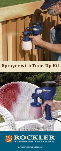HomeRight Finish Max HVLP Sprayer with Tune-Up Kit Perfect for thinner coatings like sealer, poly, stain and varnish—includes tune-up kit with extra cup and lid for fast finish switches!