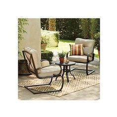 Patio Table Chairs Set Furniture Deep Seated Cushions Outdoor Porch Deck