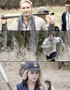 Carlisle is the coolest vampire I have ever seen in my life. Rosalie's pretty epic. And Edward is running from Abraham Lincoln, as he is a vampire hunter.