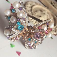 Pearl hair clip #jewellery #hair clips #pearls