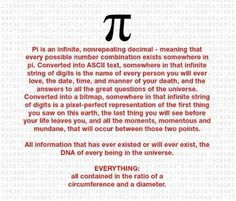 """""As it turns out, mathematicians do not yet know whether the digits of pi contains every single finite sequence of numbers. That being said, many mathematicians suspect that this is the case..."" http://www.askamathematician.com/2009/11/since-pi-is-infinite-can-i-draw-any-random-number-sequence-and-be-certain-that-it-exists-somewhere-in-the-digits-of-pi/"