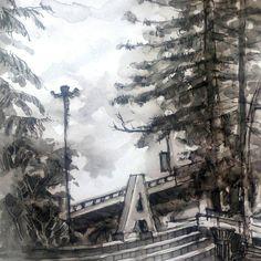 Taman Cikapayang Dago#art #drawing #ink #sketch #sketchbook #sketchwalker #garden #gardencity #cikapayang #dago #bandung #bandungjuara