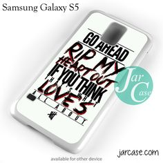 5 Seconds Of Summer Lyrics Phone case for samsung galaxy S3/S4/S5