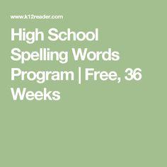 online spelling program homeschool