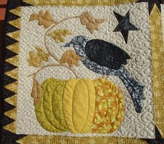 Textile Fiber Art, Fibre Art, Blackbird Designs, Halloween Quilts, Applique Quilts, Quilt Blocks, Raven, Quilt Patterns, Applique Ideas