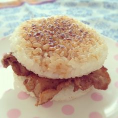 ... images about rice burger on Pinterest | Burgers, Rice and Beef burgers