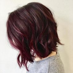 26 Short Bob with Textured Waves and Color Melt