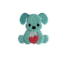 Stitch this cute mini dog holding a heart. Applique Designs Free, Applique Ideas, Machine Embroidery Patterns, Embroidery Ideas, Valentine Dog, Mini Dogs, Bliss, Free Pattern, Crafting