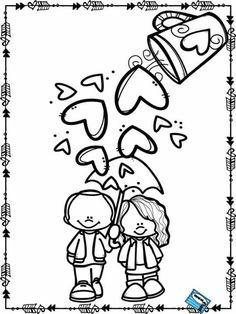 Resultado de imagen para the best coloring worksheet for valentine Valentine Coloring Pages, School Coloring Pages, Colouring Pages, Coloring Pages For Kids, Coloring Sheets, Coloring Books, Valentine Theme, Valentine Crafts, Be My Valentine