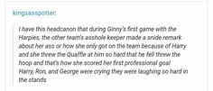 Headcannon about Ginny.