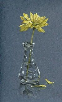 Marian Jackson - Yellow Daisy in Glass - NEW!! colored pencil tutorial.