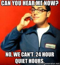 RA Quiet Hours Poster