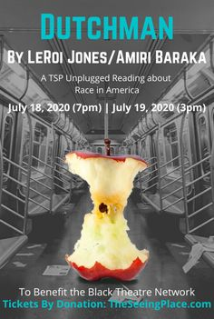 Our official production graphic for DUTCHMAN. Amiri Baraka, Race In America, July 18th, Book, Book Illustrations, Books