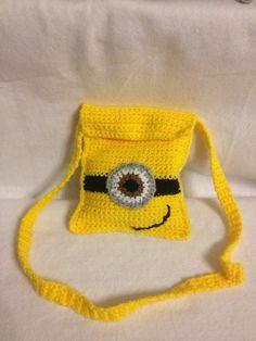 Despicable Me Minion inspire  Crochet Shoulder BAG Messenger small