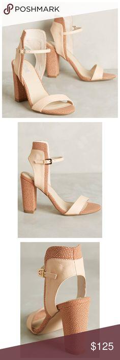 "💃HP💃Anthropologie Mala Heels Brand New Mala Heels By Nude Anthropologie 😘true to sizeAdjustable buckleLeather upper, insoleSynthetic soleImported4"" leather wrapped heel. Brand new sold out. Anthropologie Shoes Heels"