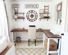 41 Cool Farmhouse Decorating Ideas for Your Home Office - Office Desk - Ideas of. - 41 Cool Farmhouse Decorating Ideas for Your Home Office – Office Desk – Ideas of Office Desk - Farmhouse Office, Farmhouse Remodel, Farmhouse Style Kitchen, Modern Farmhouse Kitchens, Farmhouse Decor, Country Office, Home Office Space, Home Office Desks, Office Furniture