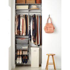 Elfa Classic 3' Platinum Small Space Closet | The Container Store