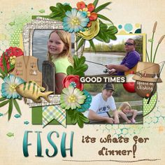 Layout using {Outdoorsy: Fishing} Digital Scrapbook Kit by Kristin Aagard http://scraporchard.com/market/digital-scrapbooking-kit-outdoorsy-fishing.html and {Make It Double} Digital Scrapbook Template by Dagi's Temp-tations http://store.gingerscraps.net/Make-It-Double.html