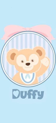 Bear Wallpaper, Disney Wallpaper, Iphone Wallpaper, Tokyo Disney Sea, Walt Disney, Duffy The Disney Bear, Light Blue Aesthetic, Pooh Bear, Disney Family