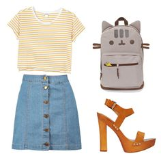 """""""Untitled #100"""" by mikarot ❤ liked on Polyvore featuring Monki, Boohoo, Dsquared2 and Pusheen"""