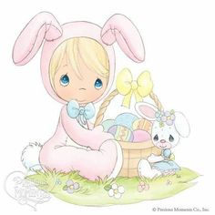 ideas for baby animals clipart precious moments Precious Moments Coloring Pages, Precious Moments Quotes, Precious Moments Figurines, Easter Wallpaper, Easter Pictures, My Precious, Sarah Kay, Cute Images, Digi Stamps
