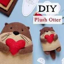 Fleece Sewing Projects | AllFreeSewing.com Animal Sewing Patterns, Hat Patterns To Sew, Stuffed Animal Patterns, Diy Stuffed Animals, Sewing Patterns Free, Free Sewing, Otter, Fleece Tie Blankets, Fleece Hats