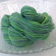 Nymph - hand dyed 100% British yarn - BFL roving.
