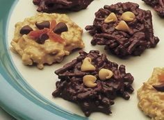 No Bake Chocolate & Peanut Butter Cookies- Easy Best Dessert Recipes, Fall Recipes, Delicious Desserts, Yummy Food, Yummy Recipes, Cookie Desserts, No Bake Desserts, Cookie Recipes, Cookie Jars