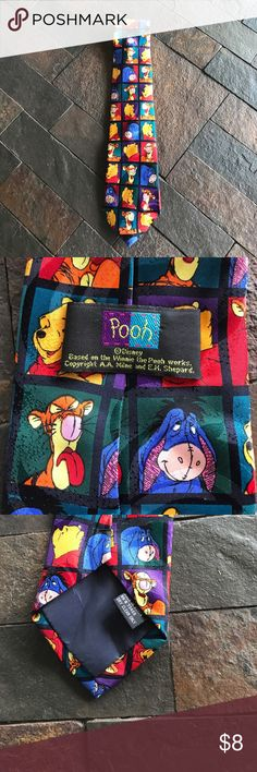 Men's Tie Winnie The Pooh Men's Tie Winnie the Pooh pooh Accessories Ties