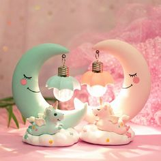 DecBest LED Unicorn Night Light Moon Lamp Luminaria Romantic Bedside Lamp Thanksgiving Christmas Gifts is Multicolor-NewChic Mobile