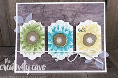 Great Video with lots of tips and tricks for this gorgeous card using Stampin Up\'s Painted Harvest Stamp set and Everyday Label Punch paired with our Wood Textures DSP (on the buy 3 get 1 free) on my blog at www.thecreativity... #stampinup #thecreativitycave #paintedharvest #woodtexturesdsp #everydaylabelpunch