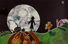 Marker and Coffee Filter Moon Silhouette Art Lesson Marker and Coffee Filter Silhouette Art Lesson - A fun and creative Fall Themed art project! Lesson can be adapted PreK- grade Art Halloween, Halloween Art Projects, Fall Art Projects, School Art Projects, Fall Projects, Art School, Art Lessons For Kids, Art Lessons Elementary, Marker